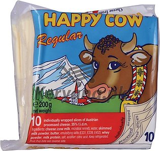 Happy Cow Regular Cheese 10 Slices 200 G