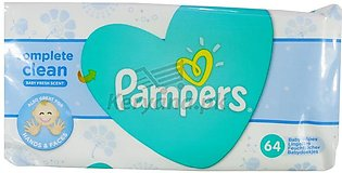 Pampers New Baby Clean Fresh Baby Wipes 64 Pcs