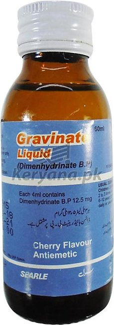 Gravinate  60 Ml 12.5 Mg Syp
