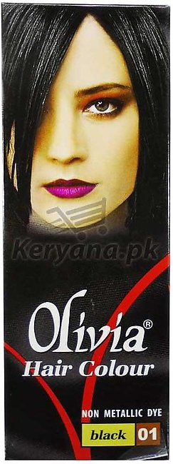 Olivia Hair Color Black 01   50 ML