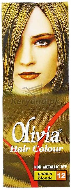 Olivia Hair Color Golden Blonde 12   50 ML