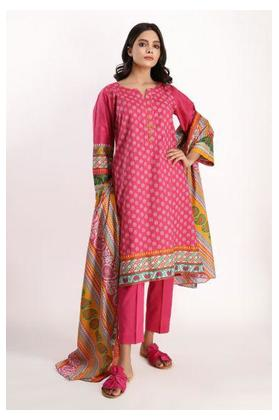 Print Embroidered Full Suit