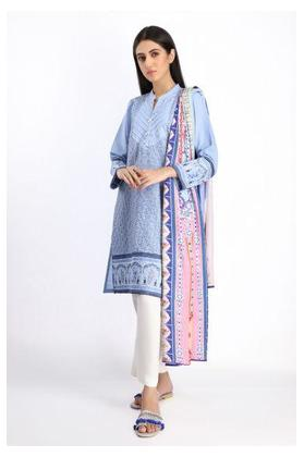 Embroidered Kurta with Dupatta