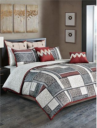 Ancient Patch Bed Sheet