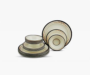 Galaxy Melamine 18 Pcs Round Gift Pack Set - Serving of 6 Persons - Double Glaz…