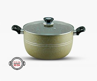 KLASSIC Casserole / Cooking Pot 32Cm with Glass Lid Marble Coated