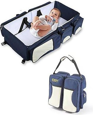 Foldable Baby Travel Bed Bag Portable Baby Diaper Change Station 4 in 1
