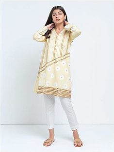 BeechTree Embroidered ShirtBTS19-CH-355-Yellow