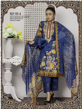 Rangoli Ruqayyah Printed & Embroidered Lawn Collection Vol-2 19 RHS-5A