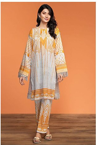 Nishat Linen Spring Summer 20 42001005-Digital Printed Lawn Cambric 2PC