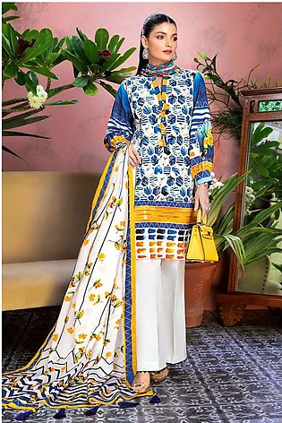 Gul Ahmed Summer Lawn20 3PC Unstitched Lawn Suit CL-811