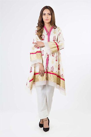 Bonanza Satrangi Pret Collection O-White-Lawn-Kurti SUPK1P
