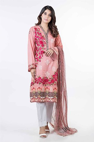 Bonanza Satrangi Pret Collection L-Peach-Lawn-Suit SPK192P008