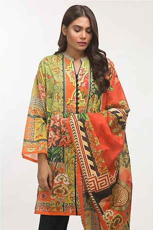 Gul Ahmed Lawn 3 PC Outfit IPS-19-53