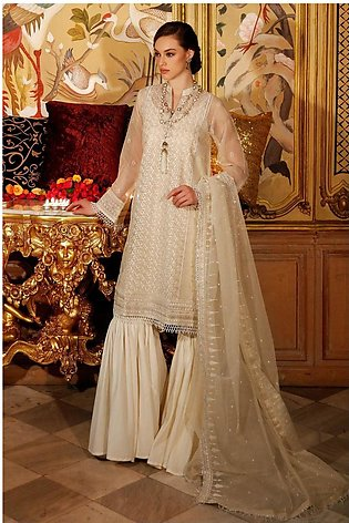 Gul Ahmed Eid 2020 3 PC Embroidered-Suit with Organza Dupatta FE-293