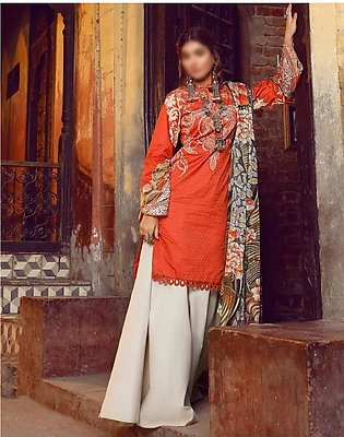 MISCELLANEOUS Kinaar Unstitiched Luxury Lawn Collection D-02