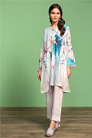 Nishat Linen Spring Summer 20 42001004-Digital Printed Lawn Cambric 2PC