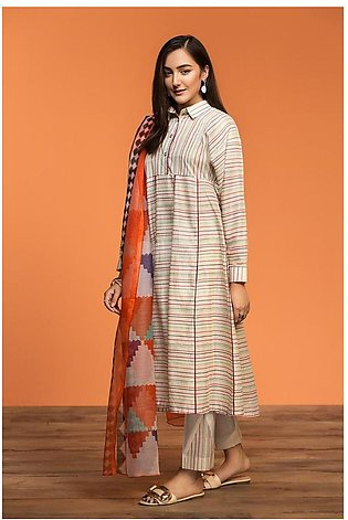 Nishat Linen Spring Summer 20 42001192-Printed Lawn Viscose Net 2PC
