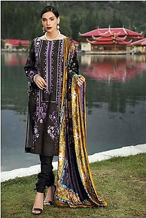Gul Ahmed Winter unstitched Collection Purple MV-19