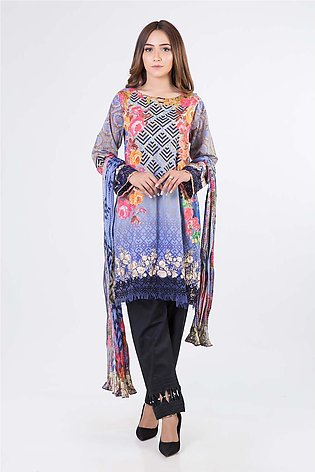 Bonanza Satrangi Pret Collection Blue-Lawn-Suit SUPK2P