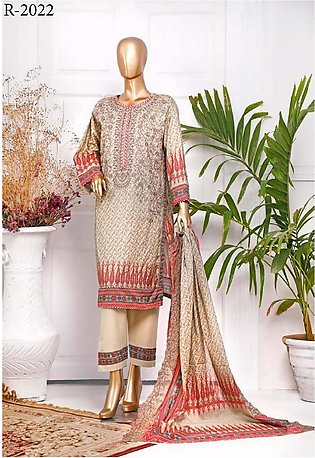 RIWAYAT Premium Unstitched Embroidered Lawn Collection R-2022