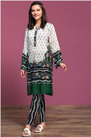 Nishat Linen Spring Summer 20 42001003-Digital Printed Lawn Cambric 2PC