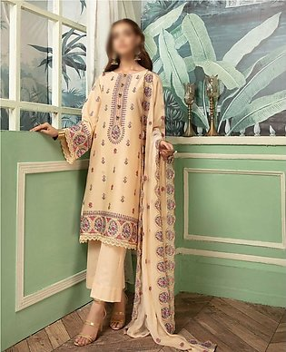 NUR Khoobsurat Signature Unstitched Embroidered Lawn Collection D-LS 398