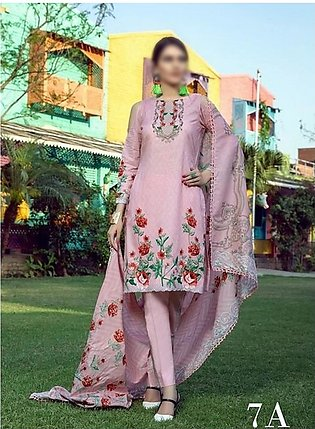 AL ZOHAIB Anum Lawn Collection Monsoon Lawn Collection MLC V-03 D-7A