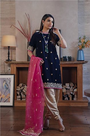 Ethnic by Outfitters Boutique Suits Shirt + Dupatta WTB491786-10231534-L-16