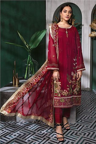 Gul Ahmed Summer Lawn20 3 PC Unstitched Swiss Voile Suit LSV-35