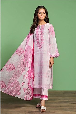 Nishat Linen Spring Summer 20 42001031-Printed Embroidered Lawn, Cambric Voil...