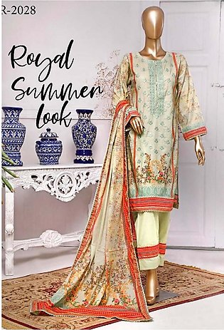RIWAYAT Premium Unstitched Embroidered Lawn Collection R-2028