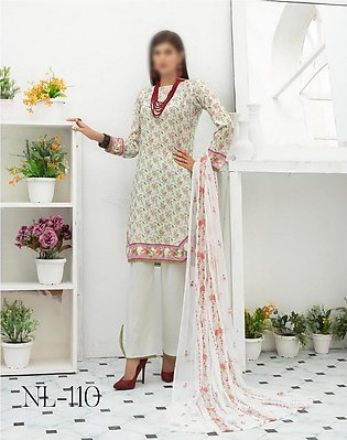 NUR Unstitched Classic Lawn Collection D-NL-110