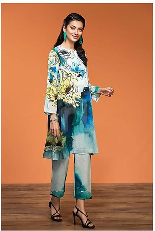 Nishat Linen Spring Summer 20 42001002-Digital Printed Lawn Cambric 2PC