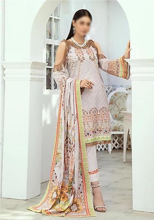 NUR Printed Unstiched Lawn Collection D-P-02