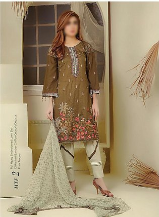 Modern Style Embroidered Unstiched Lawn Collection D-MTF 02