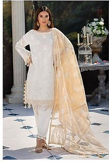 Motifz 2203-DREAMY-WHITE EMBROIDERED LAWN UNSTITCHED