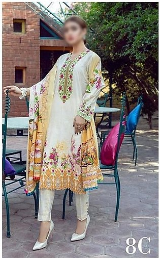 AL ZOHAIB Anum Lawn Collection Monsoon Lawn Collection MLC V-03 D-8C