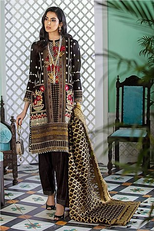 Gul Ahmed Eid 2020 3 PC Embroidered-Suit with Jacquard Dupatta FE-347