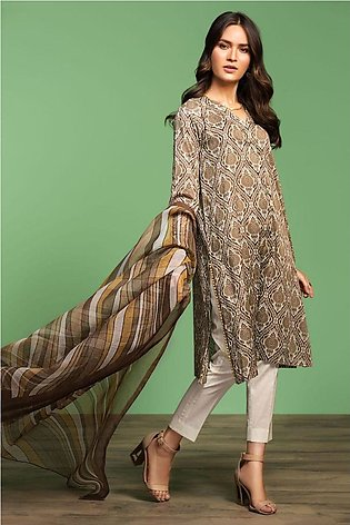 Nishat Linen Spring Summer 20 42001195-Printed Lawn Viscose Net 2PC