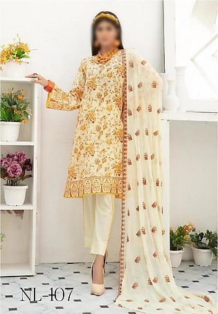 NUR Unstitched Classic Lawn Collection D-NL-107