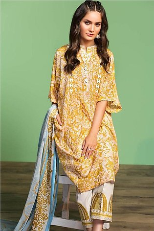Nishat Linen Spring Summer 20 42001034-Printed Embroidered Lawn, Cambric Voil...