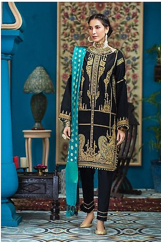 Gul Ahmed Eid 2020 3 PC Embroidered-Suit with Yarn Dyed Jacquard Dupatta FE-287