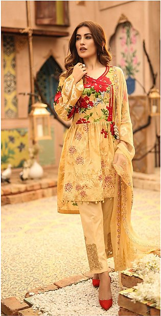 Salitex Shades of Festive Printed Lawn with Embroidered Shirt WK-291B