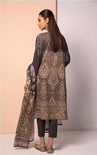 Oaks Spring Summer 19 Charcoal 2 PCs Lawn Embroidered 3282