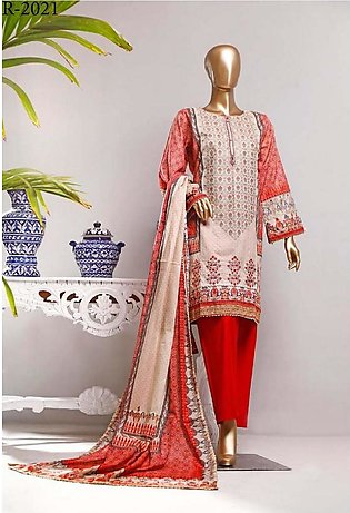 RIWAYAT Premium Unstitched Embroidered Lawn Collection R-2021