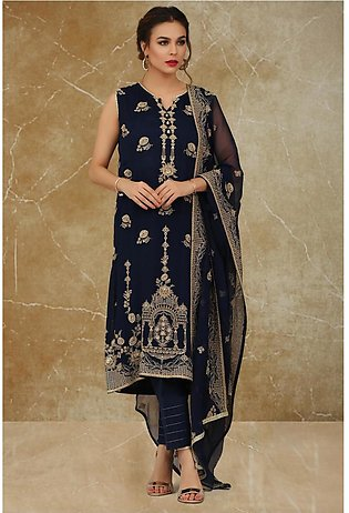 Kayseria dyed, embroidered and embellished 2pc suitKPN-173