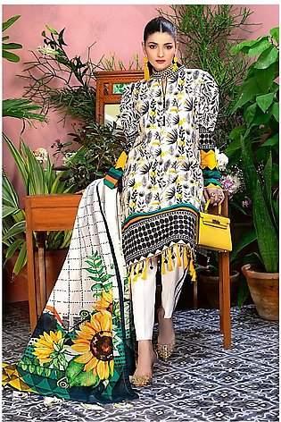 Gul Ahmed Summer Lawn20 3PC Unstitched Lawn Suit CL-808