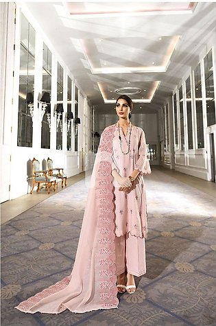 Nishat Linen 41908017-Swiss Cotton Pink Embroidered Luxury Unstitched 3PC
