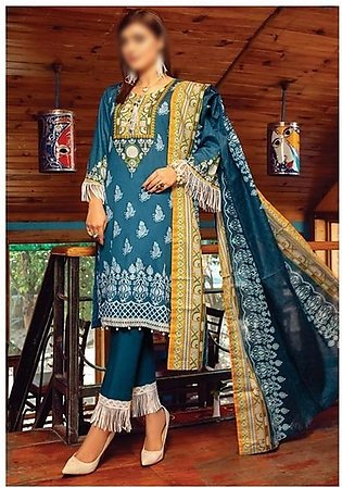 AL ZOHAIB Anum Lawn Collection Monsoon Lawn Collection MLC V-03 D-6C